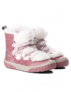 GEOX bērnu rozā zābaki ar siltinājumu OMAR