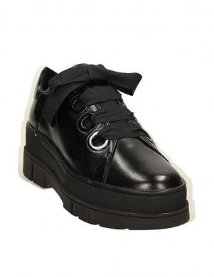 Sieviešu melni apavi ar augstu zoli D ROOSE GEOX