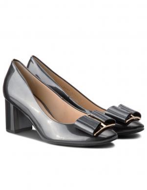 Sieviešu tumši pelēki lakoti apavi HOGL
