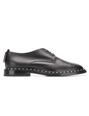 AGL sieviešu melni ādas šņorējami apavi