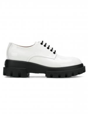 AGL sieviešu balti ādas lakoti apavi