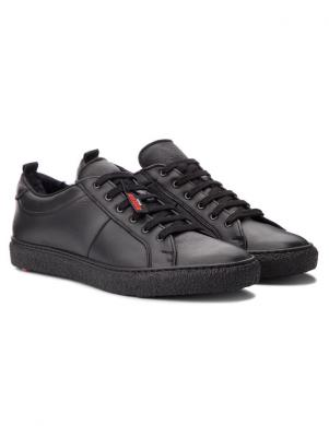 LLOYD vīriešu melni brīva laika apavi ar dabīgu kažokādu