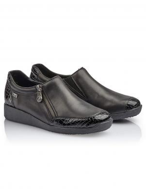 RIEKER sieviešu melni apavi ar RiekerTEX membrānu