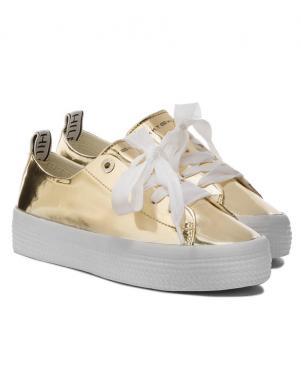 TOMMY HILFIGER sieviešu zelta krāsas brīva laika apavi
