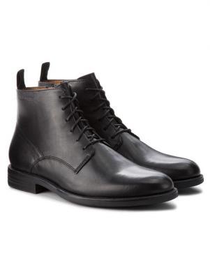 VAGABOND vīriešu melni ādas eleganti apavi