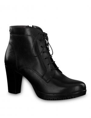 Sieviešu melni augstpapēžu apavi zābaki TAMARIS