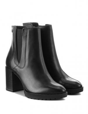 Sieviešu melni eleganti augstpapēžu apavi zābaki TAMARIS