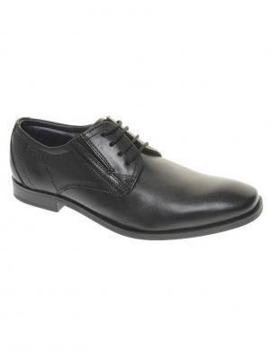 BUGATTI vīriešu melni ādas apavi