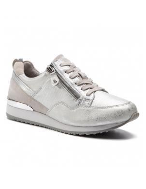 CAPRICE sieviešu sudraba krāsas ādas apavi