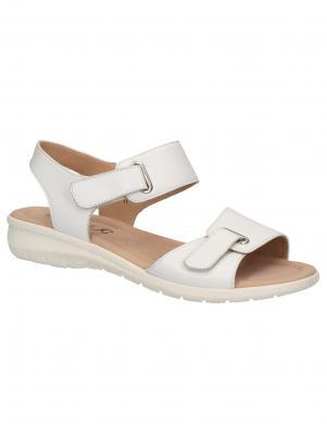 CAPRICE sieviešu baltas ādas sandales