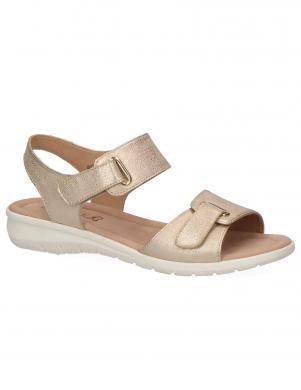 CAPRICE sieviešu zelta krāsas ādas sandales