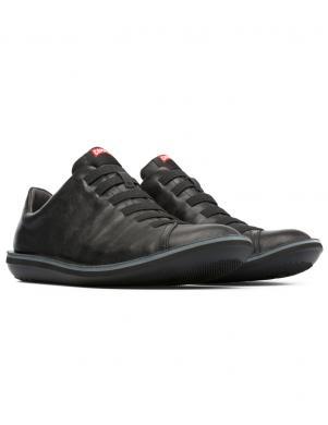 CAMPER vīriešu melni ādas brīva laika apavi BEETLE