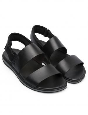 CAMPER vīriešu melnas ādas sandales SPRAY