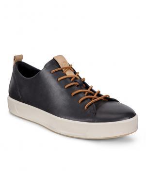 ECCO vīriešu melni ādas brīva laika apavi SOFT 8