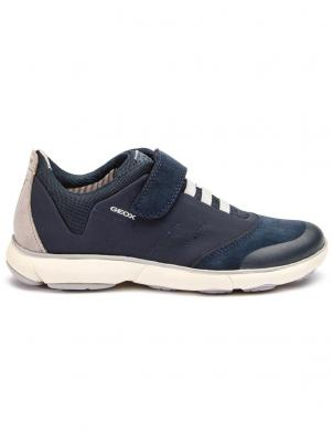 GEOX bērnu tumši zili brīva laika apavi