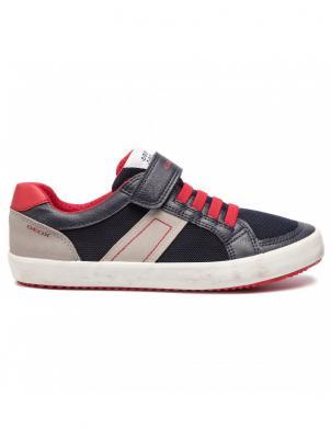 GEOX bērnu zili/sarkani brīva laika apavi