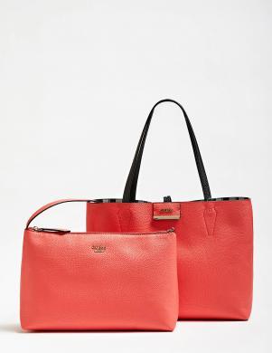 GUESS krāsaina/ sarkana divpusīga sieviešu soma