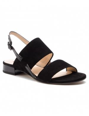 HOGL sieviešu melnas ādas sandales RIBBY