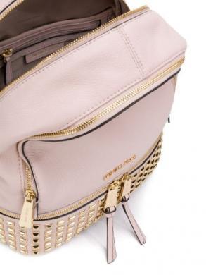MICHAEL KORS sieviešu rozā ādas mugursoma