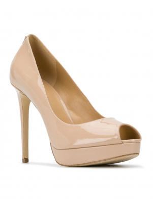 MICHAEL KORS sieviešu krēmīgas krāsas lakoti augstpapēžu apavi ERIKA