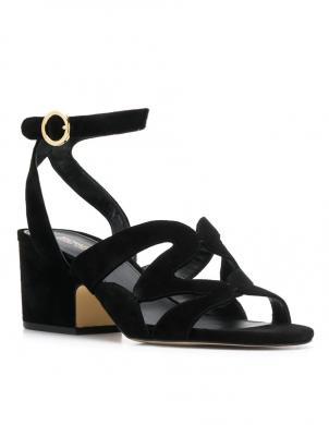 MICHAEL KORS sieviešu melnas ādas sandales ANNALEE