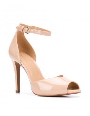 MICHAEL KORS sieviešu krēmīgas krāsas lakotas augstpapēžu sandales CAMBRIA