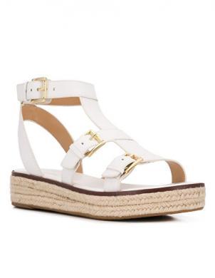 MICHAEL KORS sieviešu baltas ādas sandales CUNNINGHAM