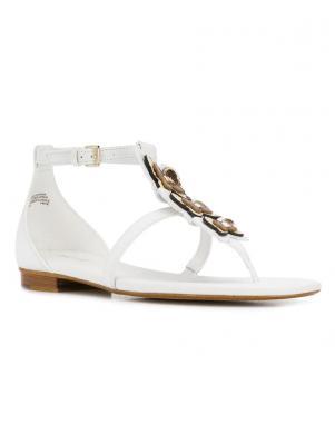 MICHAEL KORS sieviešu baltas ādas sandales FELICITY