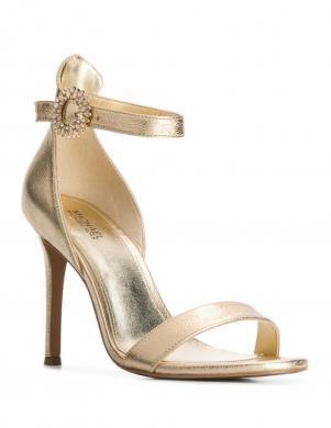 MICHAEL KORS sieviešu zelta krāsas augstpapēžu sandales VIOLA