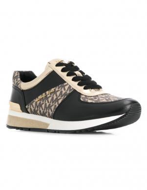 MICHAEL KORS sieviešu melnas/zelta krāsas brīva laika apavi
