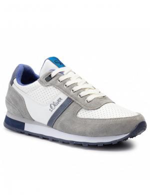 S.OLIVER vīriešu balti brīva laika apavi