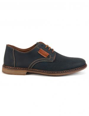 RIEKER vīriešu tumši zili ādas apavi