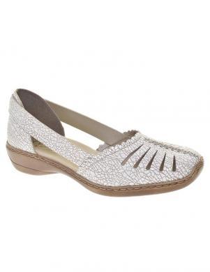 RIEKER sieviešu balti ādas apavi