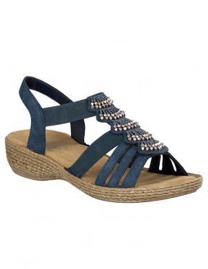 RIEKER sieviešu zilas sandales
