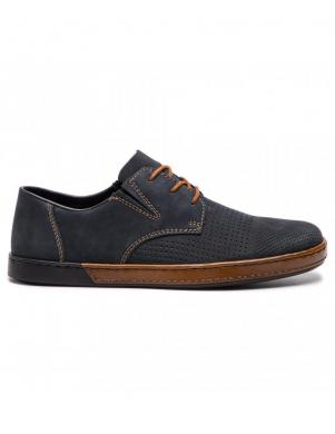 RIEKER vīriešu zili ādas brīva laika apavi