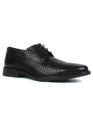 SALAMANDER vīriešu melni ādas perforēti apavi