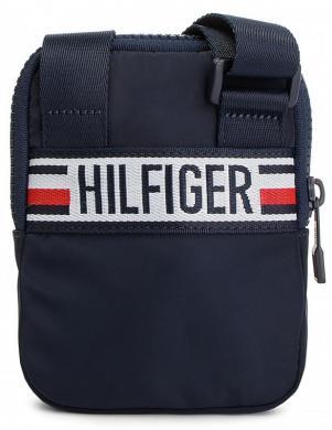 TOMMY HILFIGER zila vīriešu soma pār plecu