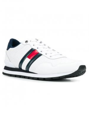 TOMMY JEANS vīriešu balti ādas brīva laika apavi