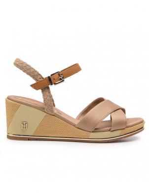 TOMMY HILFIGER sieviešu brūnas augstpapēžu sandales
