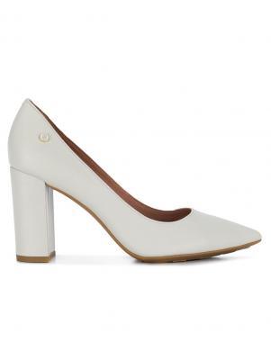TOMMY HILFIGER sieviešu balti ādas augstpapēžu apavi