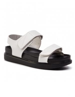 VAGABOND sieviešu baltas ādas sandales ERIN