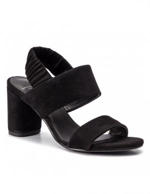 VAGABOND sieviešu melnas ādas augstpapēžu sandales PENNY