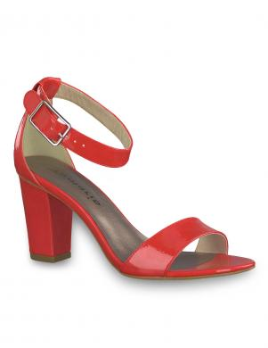 TAMARIS sieviešu sarkanas lakotas augstpapēžu sandales HEITI