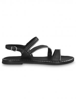 TAMARIS sieviešu melnas ādas sandales TOFFY