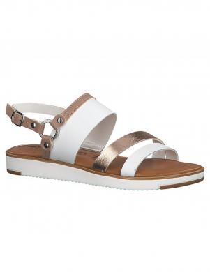 TAMARIS sieviešu baltas ādas sandales