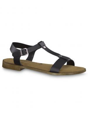 TAMARIS sieviešu melnas ādas sandales SERA