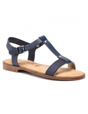 TAMARIS sieviešu zilas ādas sandales SERA