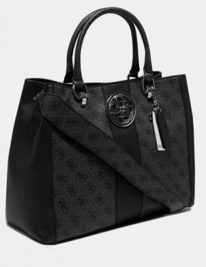 GUESS pelēka/ melna sieviešu soma