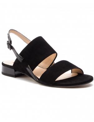 HOGL sieviešu melnas ādas sandales MERRY
