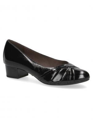 CAPRICE sieviešu melni lakoti apavi